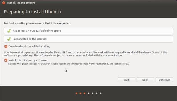 ubuntu 14.10 install preparation