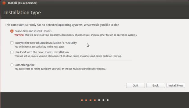 ubuntu 14.10 install type