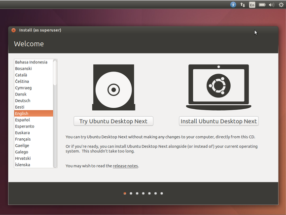 ubuntu desktop next installer