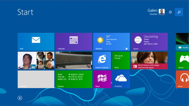 Windows 8.1 Search and Power in Metro