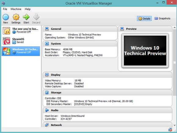 windows 10 virtualbox