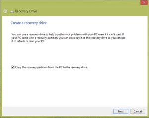 windows 8 recovery drive Microsoft