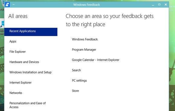 windows10 feedback