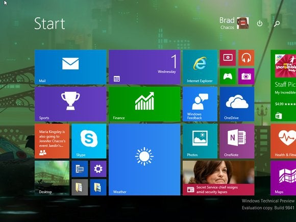 windows10 start screen