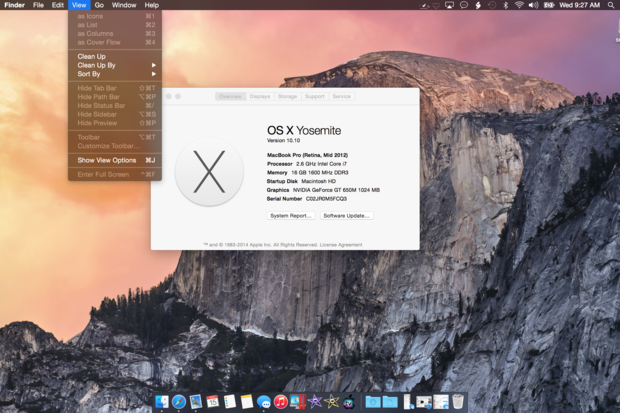 yosemite dark theme