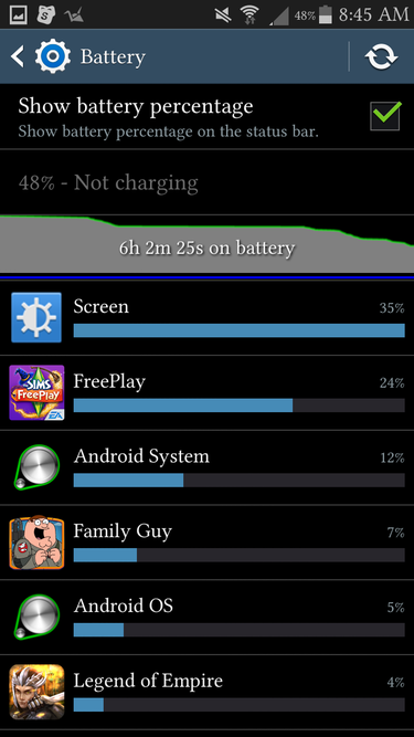2 batterymenu