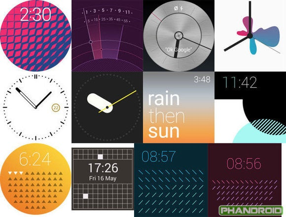 android wear 5.0 lollipop watchface