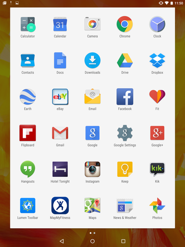 Android 5.0 Lollipop: App Drawer