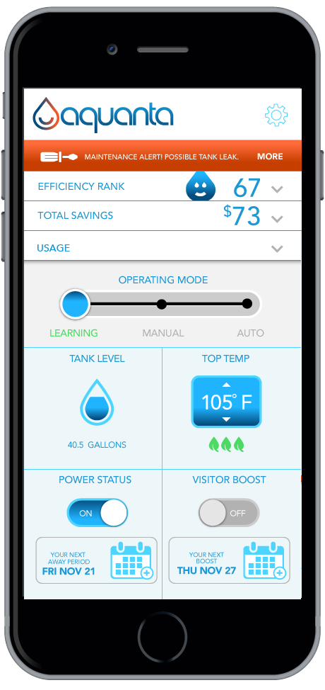The Aquanta Smart Water Heater Controller May Slash Energy