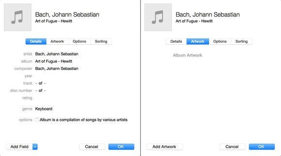 how to add artwork to itunes 12