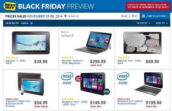 best buy black friday tablets