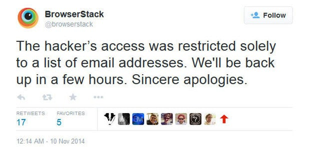BrowserStack claims only customer email list compromised