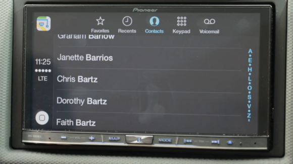 carplay contacts