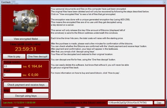 New Ransomware Coinvault Allows Users To Decrypt One File