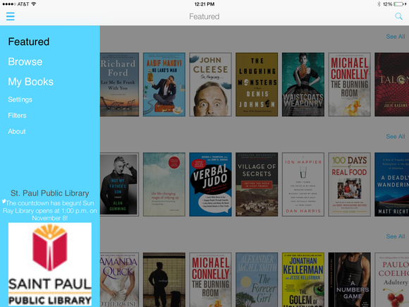 Borrow free e-books from your library with OverDrive and 3M