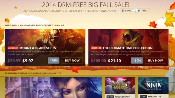 GOG Fall Sale