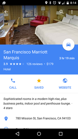 google maps marriott