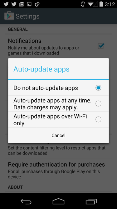 How to turn off automatic app updates on Android and install