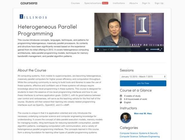 UC Berkeley Heterogeneous Parallel Programming MOOC