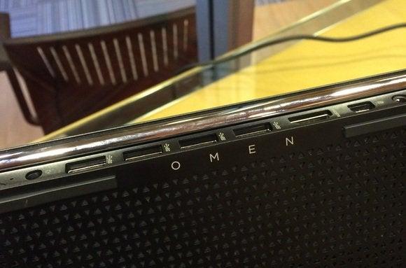 hp omen detail rear ports