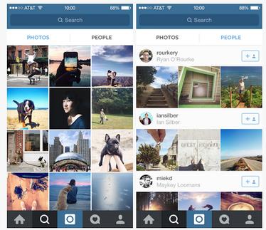 Instagram people photo tabs