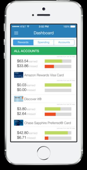 iphone dashboard rewards