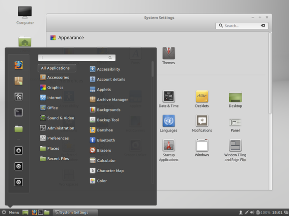 linux mint 17.1 cinnamon desktop