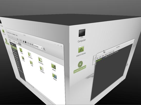linux mint 17.1 mate compiz desktop cube
