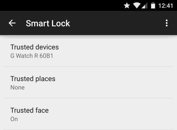 lock screen smart lock