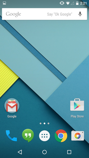 lollipop homescreen