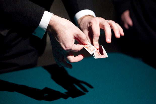 magician hands card tricks