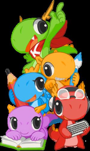 KDE Konqui mascots