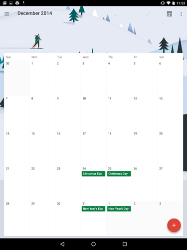 Android 5.0 Lollipop: Material Design - Calendar