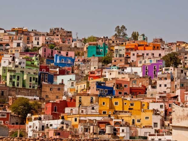 Colorful houses, Guanojuato, Mexico