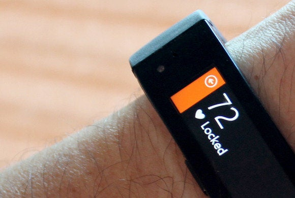 microsoft band heart rate locked