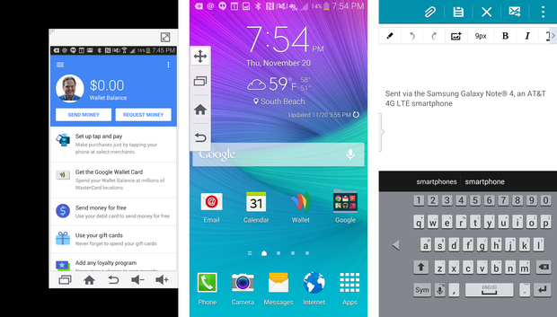 Galaxy Note 4 one-handed