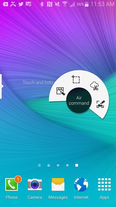 Galaxy Note 4 stylus menu