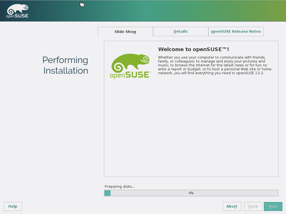 opensuse 13.2 installation