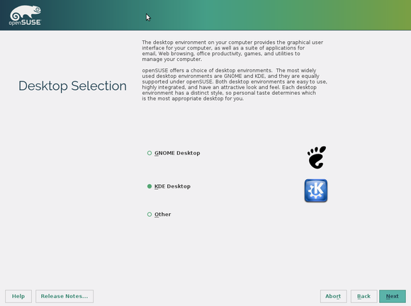 opensuse 13.2 installer desktop selection