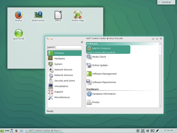 opensuse 13.2 yast on kde