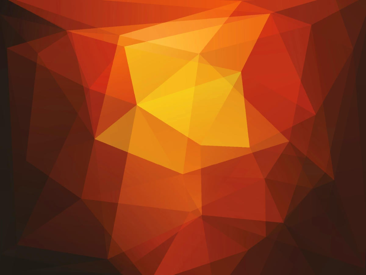 orange-yellow abstract triangles geometric background