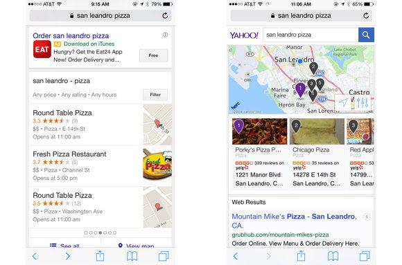 pizza google yahoo