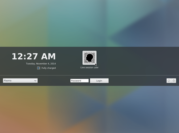 plasma 5.0 greeter