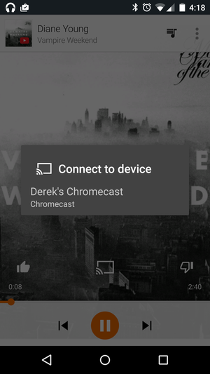 play music chromecast