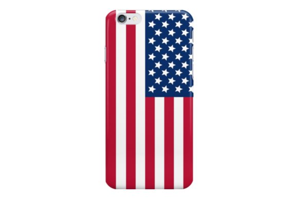 redbubble americanflag iphone