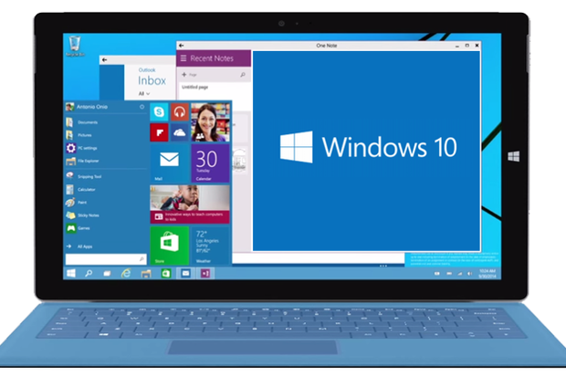 Windows 10 on Microsoft Surface PC tablet