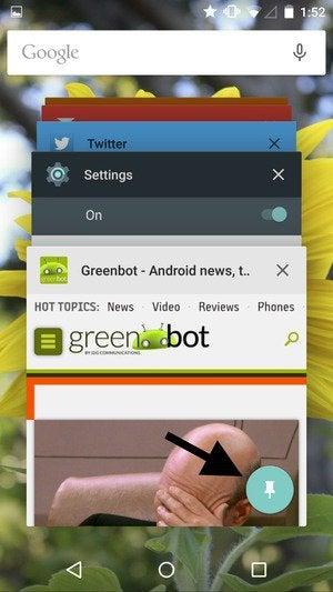 screen pin button
