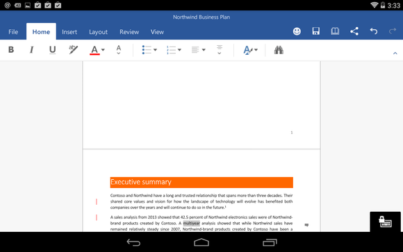 Office for Android Microsoft Word