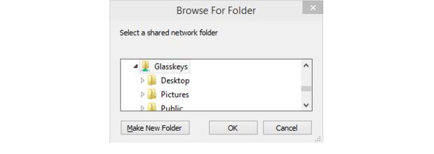 Browse for Folder dialog.