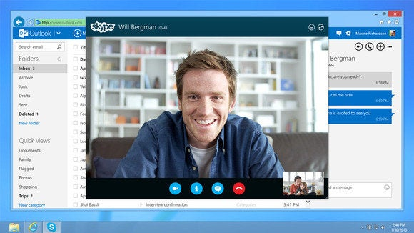 skype for web outlook